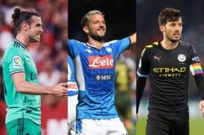 Gareth Bale of Real Madrid, Dries Mertens of Napoli, David Silva of Manchester City