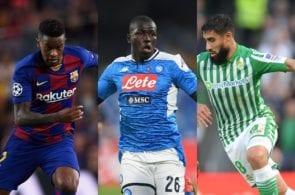 Nelson Semedo of Barcelona, Kalidou Koulibaly of Napoli, Nabil Fekir of Arsenal