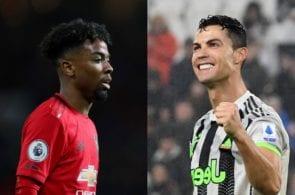 Angel Gomes of Manchester United, Cristiano Ronaldo of Juventus