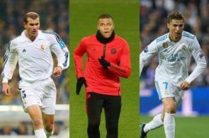 Zinedine Zidane, Kylian Mbappe, Cristiano Ronaldo
