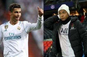 Cristiano Ronaldo of Real Madrid, Kylian Mbappe of Paris Saint-Germain