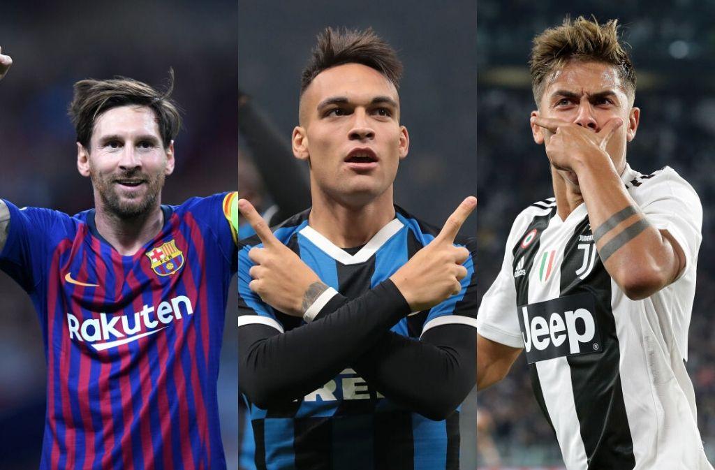 Martinez, Messi, Dybala
