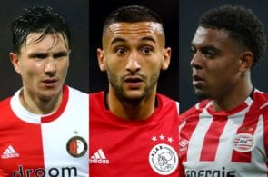 Top 10 best Eredivisie players this season statistically