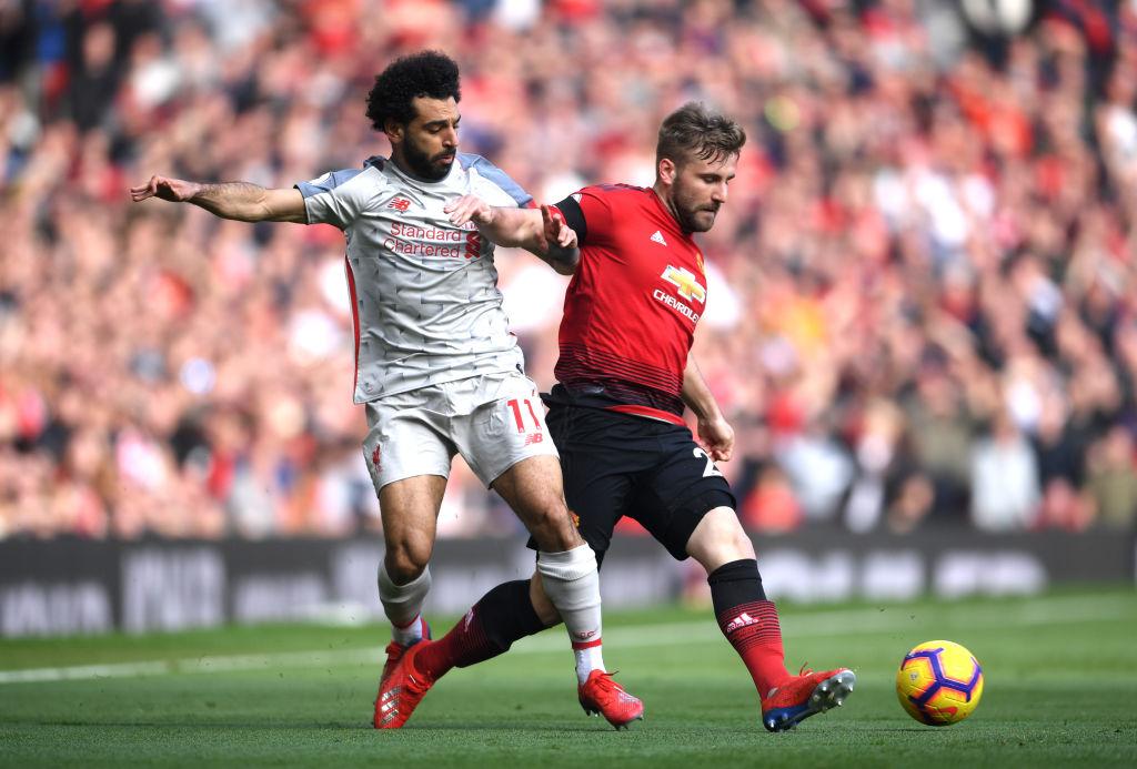 Luke Shaw & Mohamed Salah