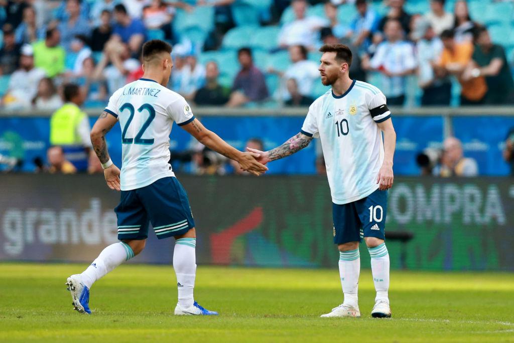 Lautaro Martinez, Lionel Messi, Argentina
