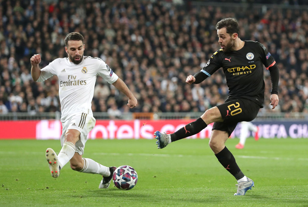 Bernardo Silva, Dani Carvajal - Real Madrid vs Manchester City