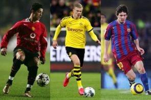 Stats: Haaland streets ahead of young Ronaldo & Messi