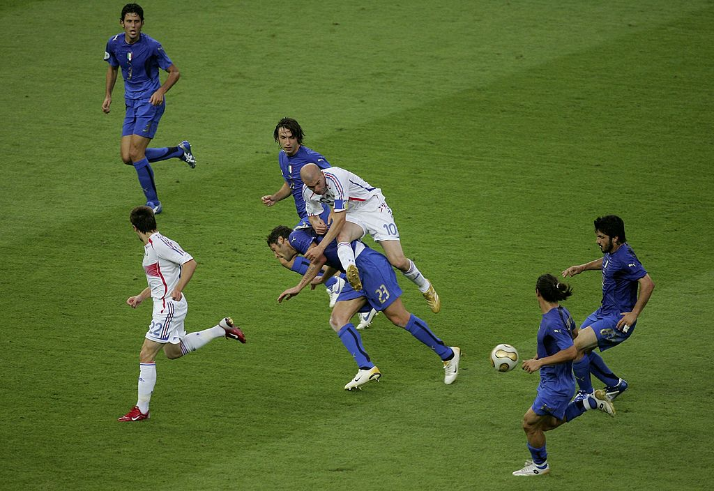 Zinedine Zidane, Marco Materazzi, France vs Italy, World Cup 2006