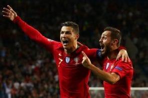 Cristiano Ronaldo, Bernardo Silva - Portugal v Switzerland, UEFA Nations League