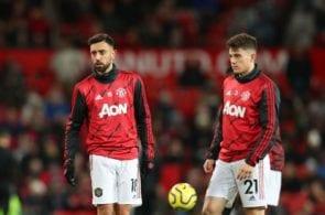 Bruno Fernandes, Daniel James, Manchester United