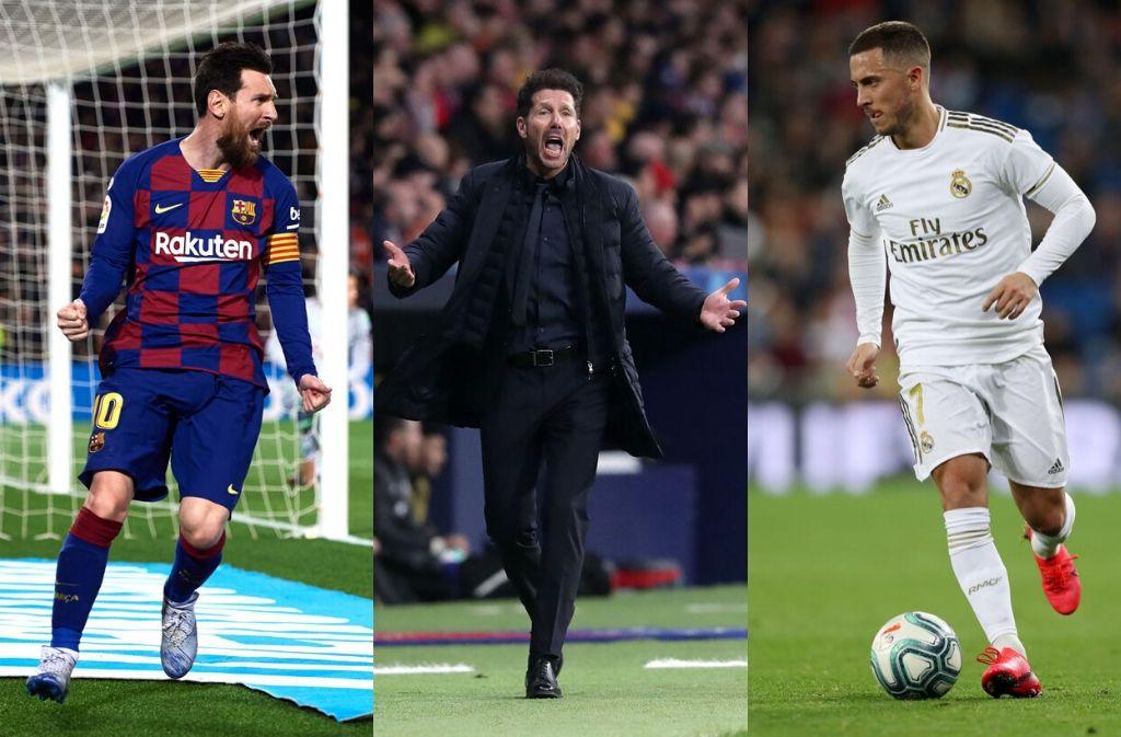 Barcelona, Real Madrid, Atletico Madrid