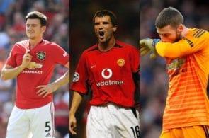 Keane, Maguire, De Gea
