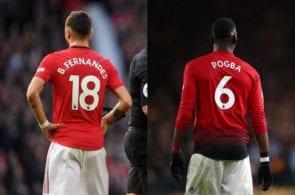 Pogba, Fernandes, United