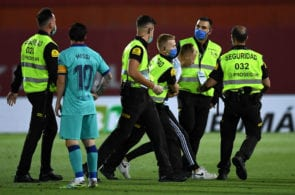 La Liga to take legal action against Mallorca-Barcelona pitch invader