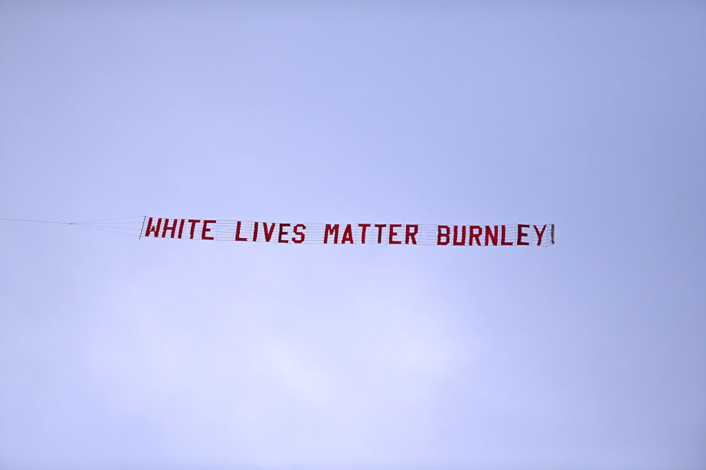 Sean Dyche condems White Lives Matter Banner