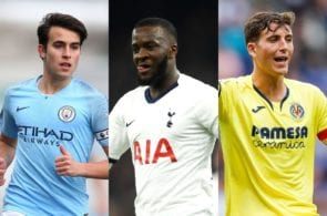 Eric Garcia of Manchester City, Tanguy Ndombele of Tottenham, Pau Torres of Villarreal