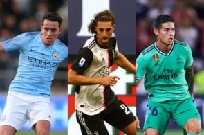 Eric Garcia of Manchester City, Adrien Rabiot of Juventus, James Rodriguez of Real Madrid