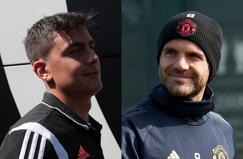 Paulo Dybala of Juventus, Juan Mata of Manchester United
