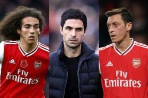 Matteo Guendouzi, Mikel Arteta, Mesut Ozil - Arsenal