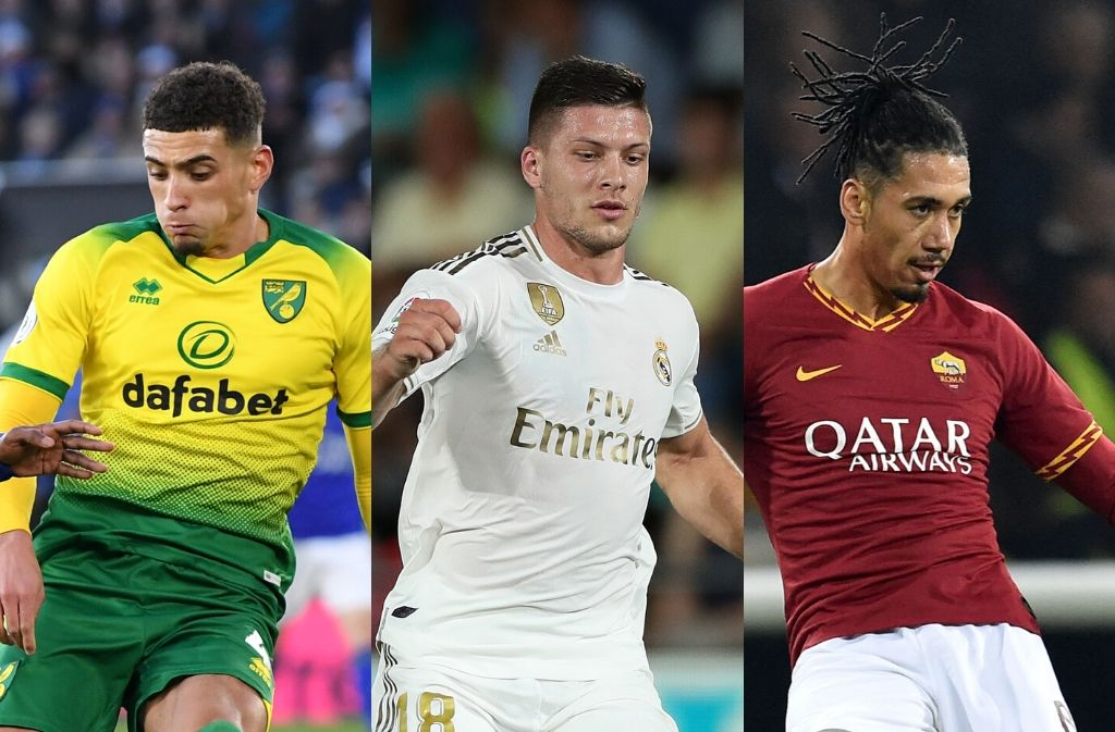 Ben Godfrey of Norwich City, Luka Jovic of Real Madrid, Chris Smalling of AS Roma