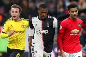 Mario Gotze, Douglas Costa of Juventus, Mason Greenwood of Manchester United
