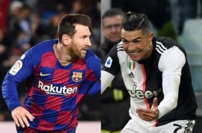 Lionel Messi of FC Barcelona, Cristiano Ronaldo of Juventus
