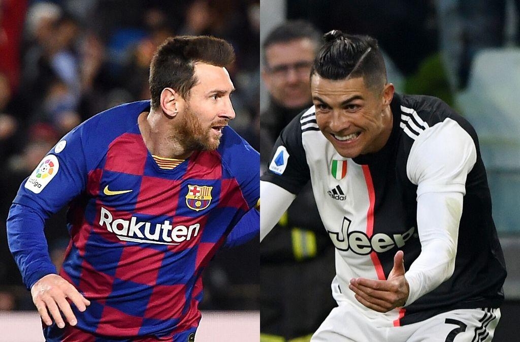 Lionel Messi of FC Barcelona, Cristiano Ronaldo of Juventus