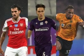 Dani Ceballos of Arsenal, Federico Chiesa of Fiorentina, Adama Traore of Wolves