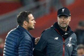 Frank Lampard of Chelsea, Jurgen Klopp of Liverpool