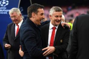 Ole Gunnar Solskjaer , Gary Neville, Manchester United