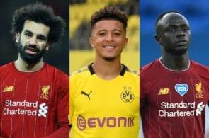 Jadon Sancho, Mohamed Salah, Sadio Mane, Liverpool