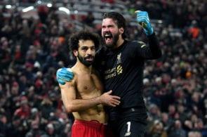 Mohamed Salah, Alisson Becker - Liverpool
