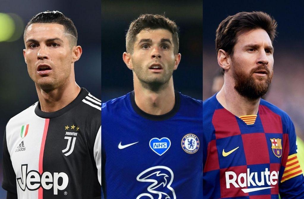 Christian Pulisic, Cristiano Ronaldo, Lionel Messi