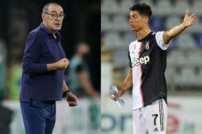 Maurizio Sarri, Cristiano Ronaldo, Juventus