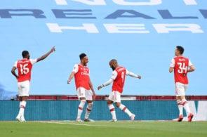 Aubameyang brace takes Arsenal to FA Cup final