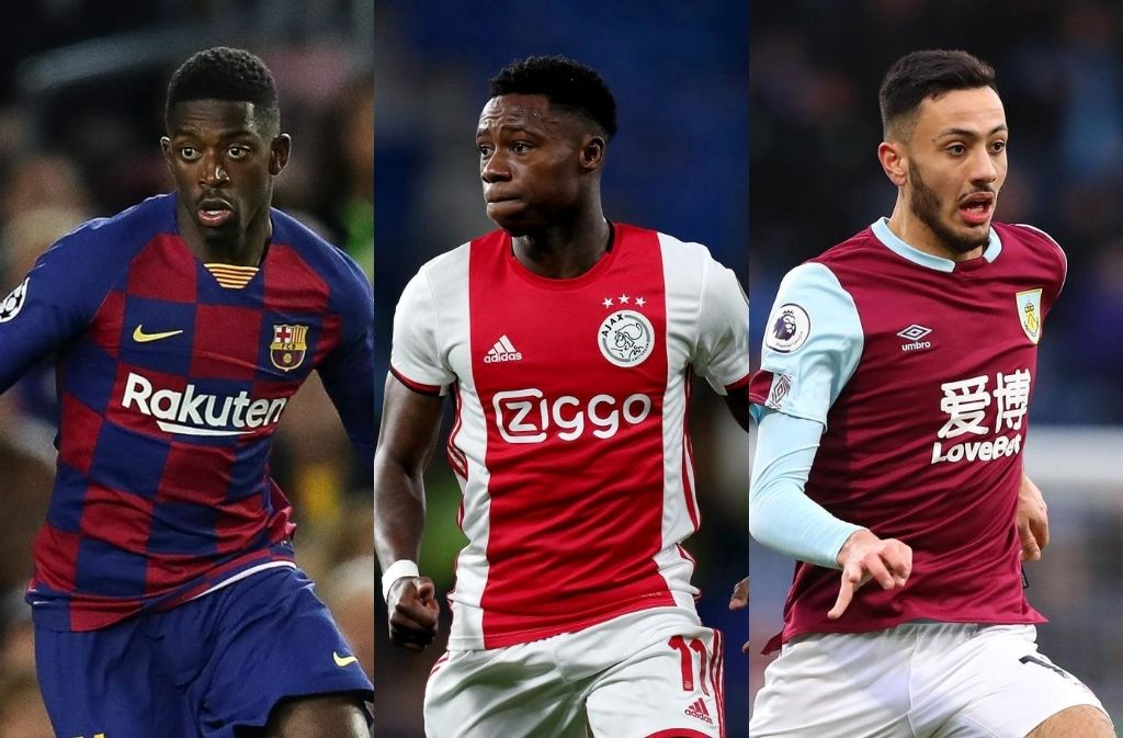 Ousmane Dembele of FC Barcelona, Quincy Promes of Ajax, Dwight McNeil of Burnley