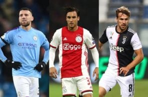 Nicolas Otamendi of Manchester City, Nicolas Tagliafico of Ajax, Aaron Ramsey of Juventus