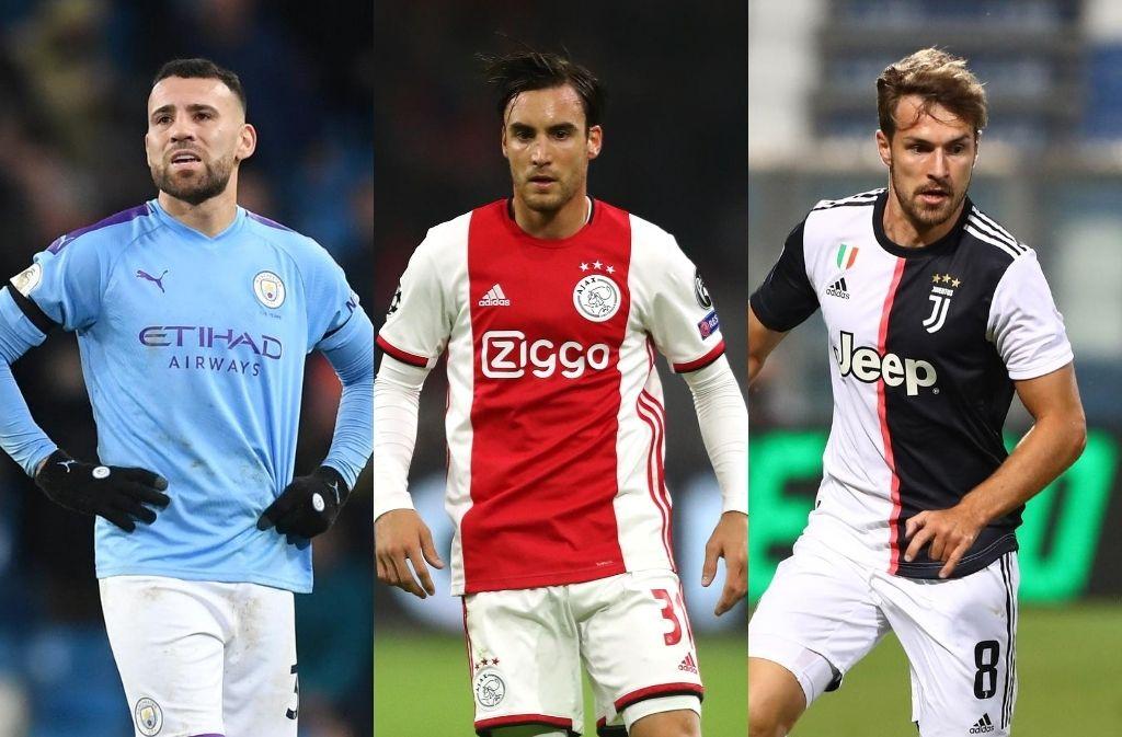 Nicolas Otamendi of Manchester City, Nicolas Tagliafico of Ajax, Aaron Ramsey of Juventus