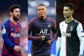 Lionel Messi of FC Barcelona - Kylian Mbappe of Paris Saint-Germain, Cristiano Ronaldo of Juventus