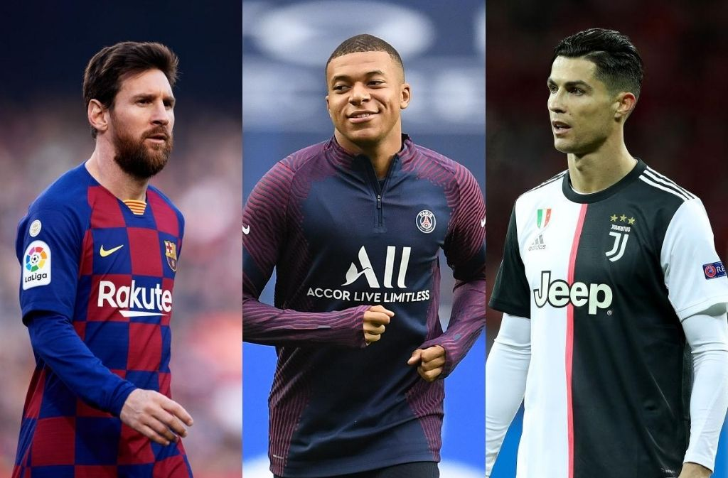 Lionel Messi of FC Barcelona - Kylian Mbappe of Paris Saint-Germain, Cristiano Ronaldo of Juventus