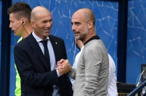 Zinedine Zidane of Real Madrid, Pep Guardiola of Manchester City