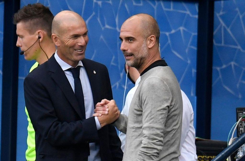 Zinedine Zidane of Real Madrid, Pep Guardiola of Manchester City