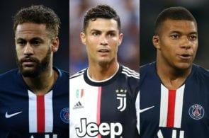 Neymar, Cristiano Ronaldo, Kylian Mbappe, PSG