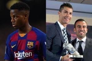 Ansu Fati, Cristiano Ronaldo, Jorge Mendes