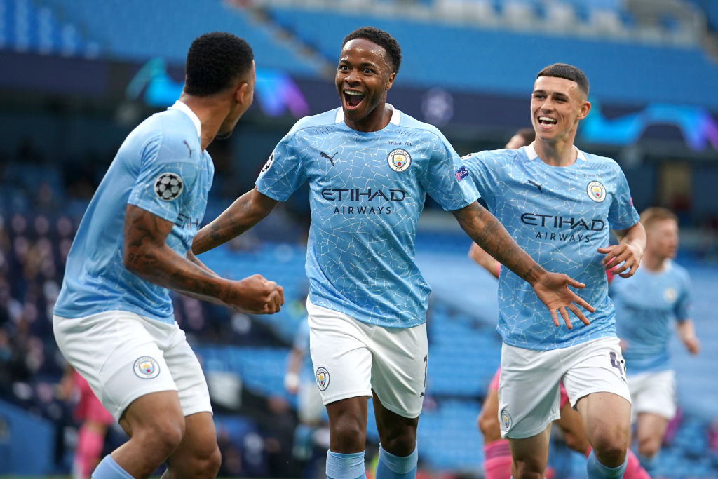 Raheem Sterling, Manchester City, Champions League