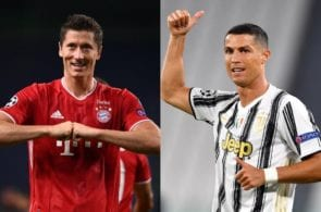 Robert Lewandowski, Cristiano Ronaldo, Champions League