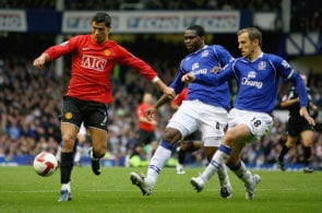 Cristiano Ronaldo, Phil Neville, Manchester United