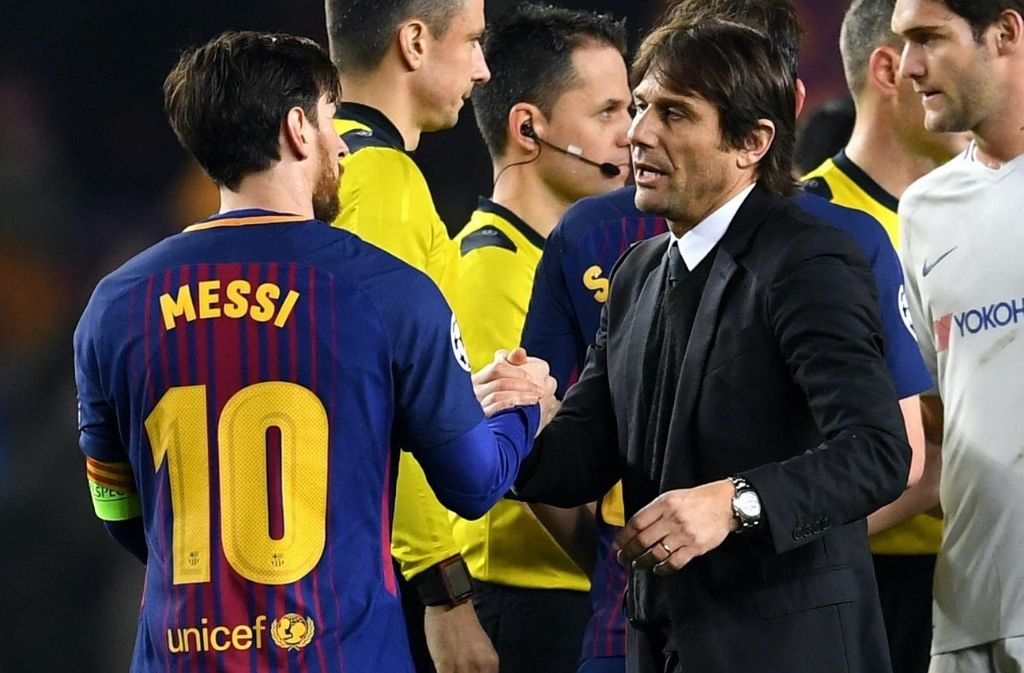 Antonio Conte, Lionel Messi, Inter Milan