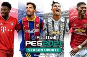 Alphonso Davies, Lionel Messi, Cristiano Ronaldo, Marcus Rashford, PES 2021
