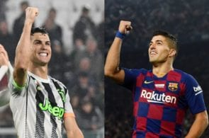 Crisitano Ronaldo of Juventus, Luis Suarez of FC Barcelona